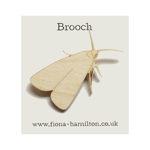 Moth Brooch Wood