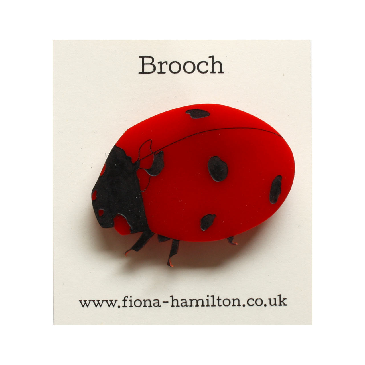 Ladybird Brooch Red