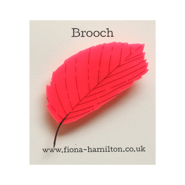 Leaf Brooch Pink