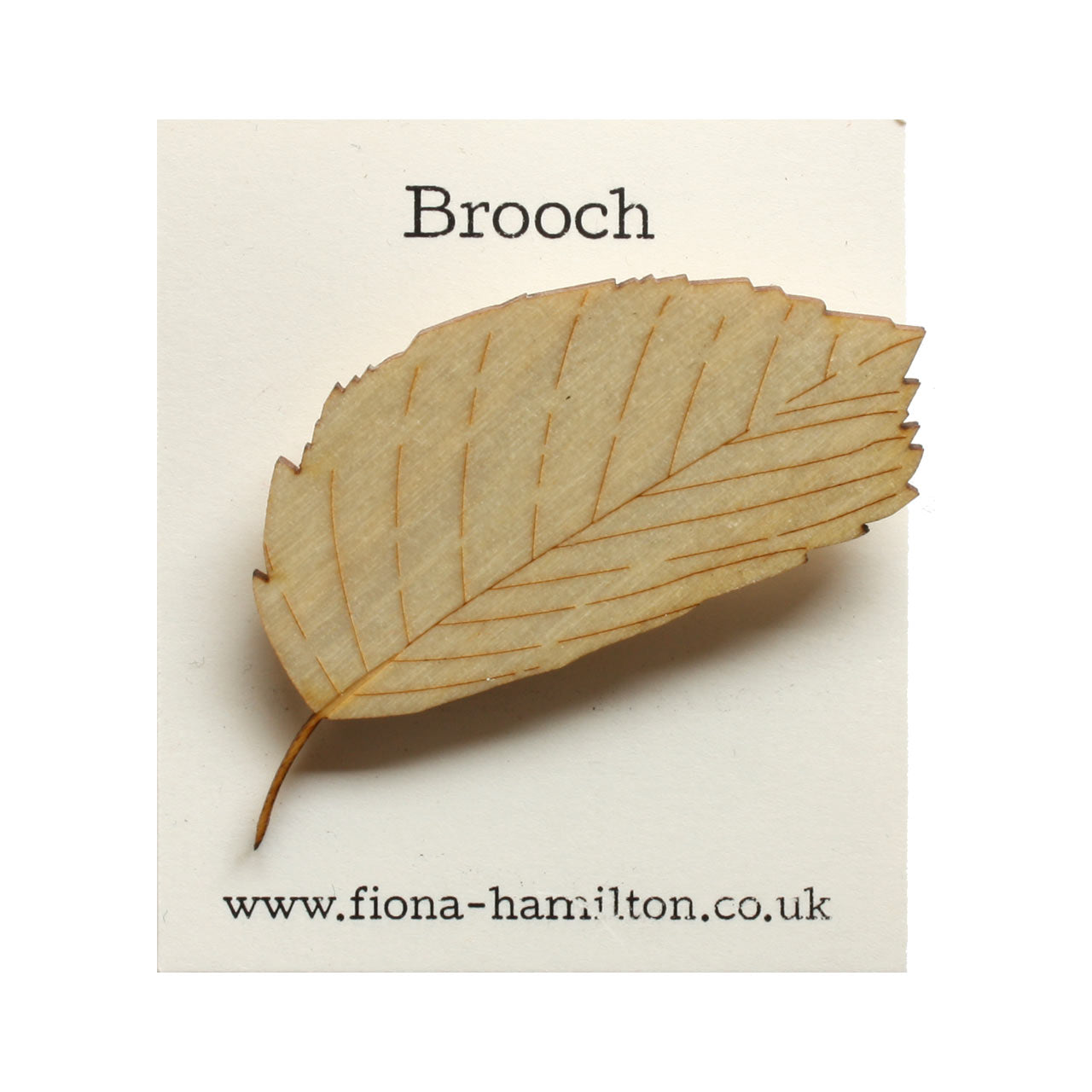 Leaf Brooch Wood