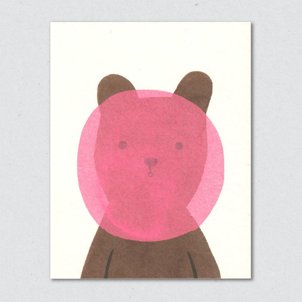 Bubblegum Bear card by Lisa Jones Studio