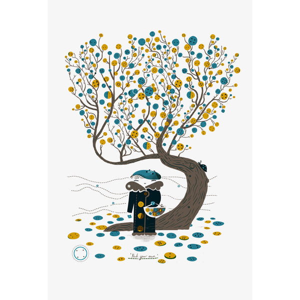 Button Tree Print