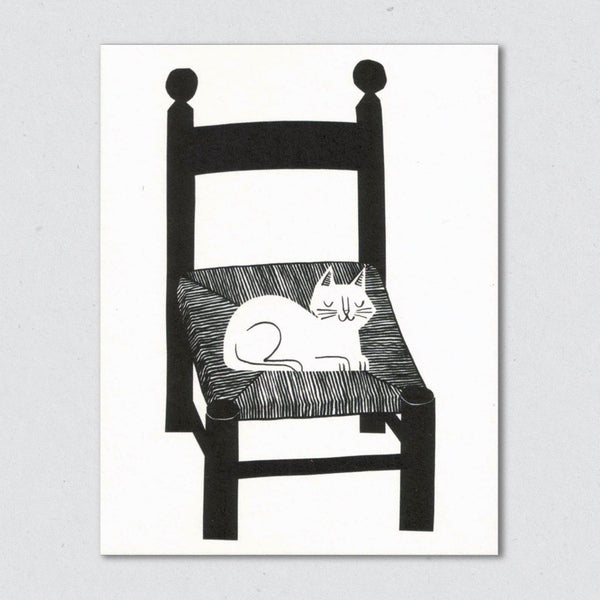 Cat Nap card by Lisa Jones Studio