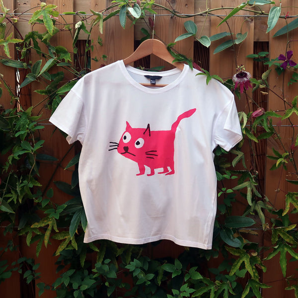 Cat Pink T-shirt - Child 14-15