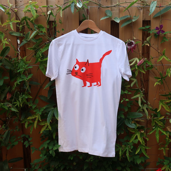Cat Red T-shirt - Men XXS