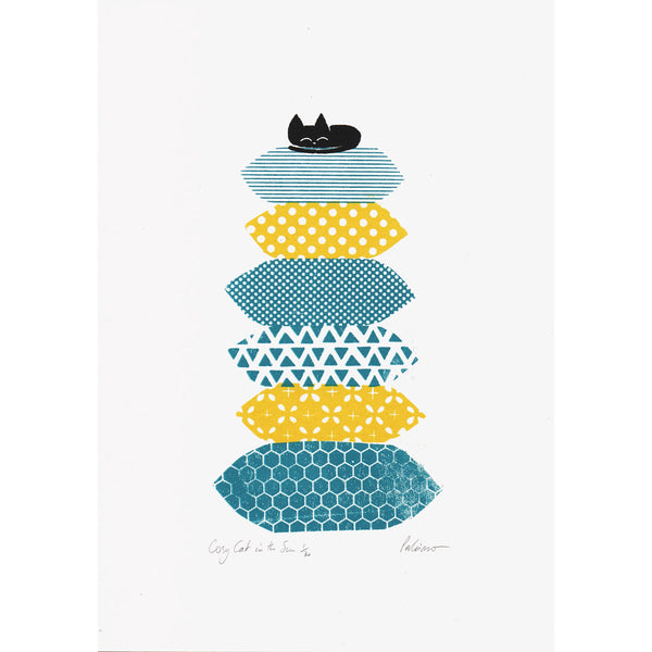 Cosy Cat in the Sun Print