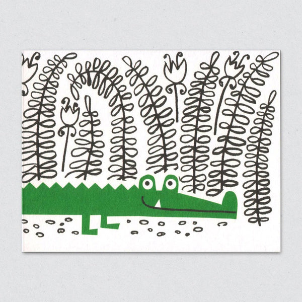 Crocodile card by Lisa Jones Studio