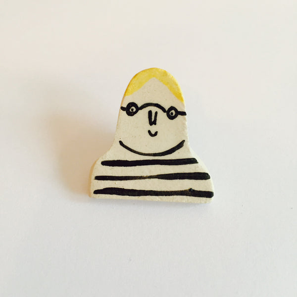 David Hockney Brooch
