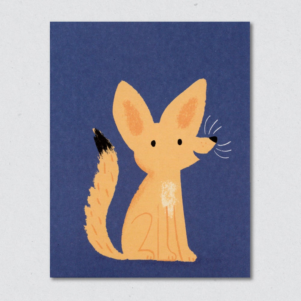 Desert Fox greeting card by Lisa Jones Studio