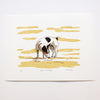 Dog on the Beach print by Fiona Hamilton