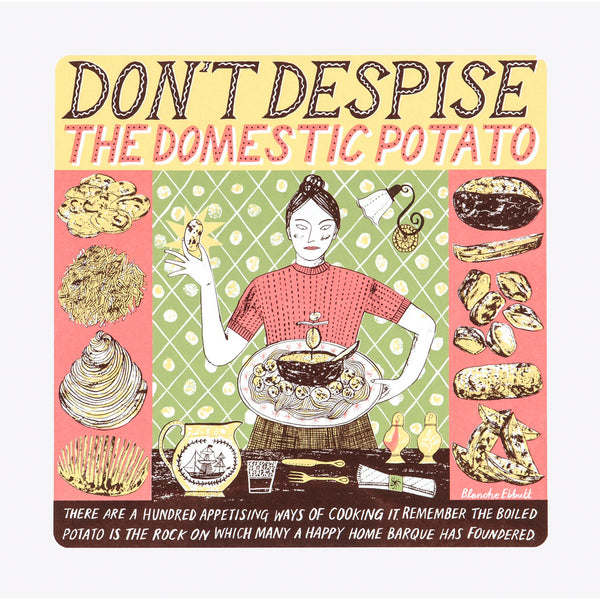Domestic Potato print by Alice Pattullo, Soma Gallery, Bristol