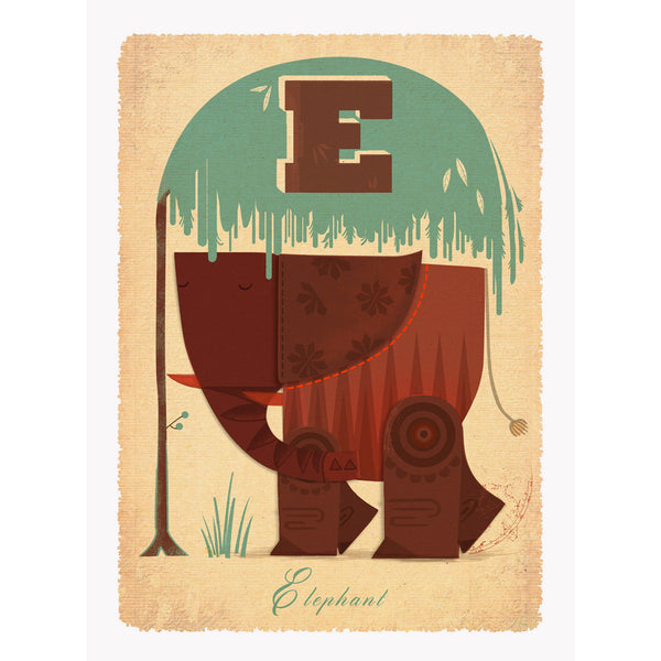 Elephant print by Graham Carter