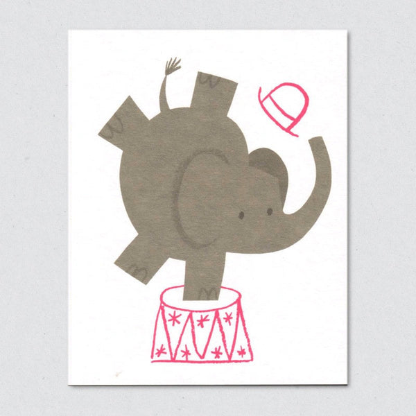 Elephant card by Lisa Jones Studio
