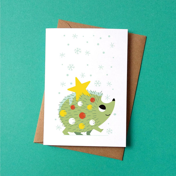 Festive Hedgehog Christmas Card