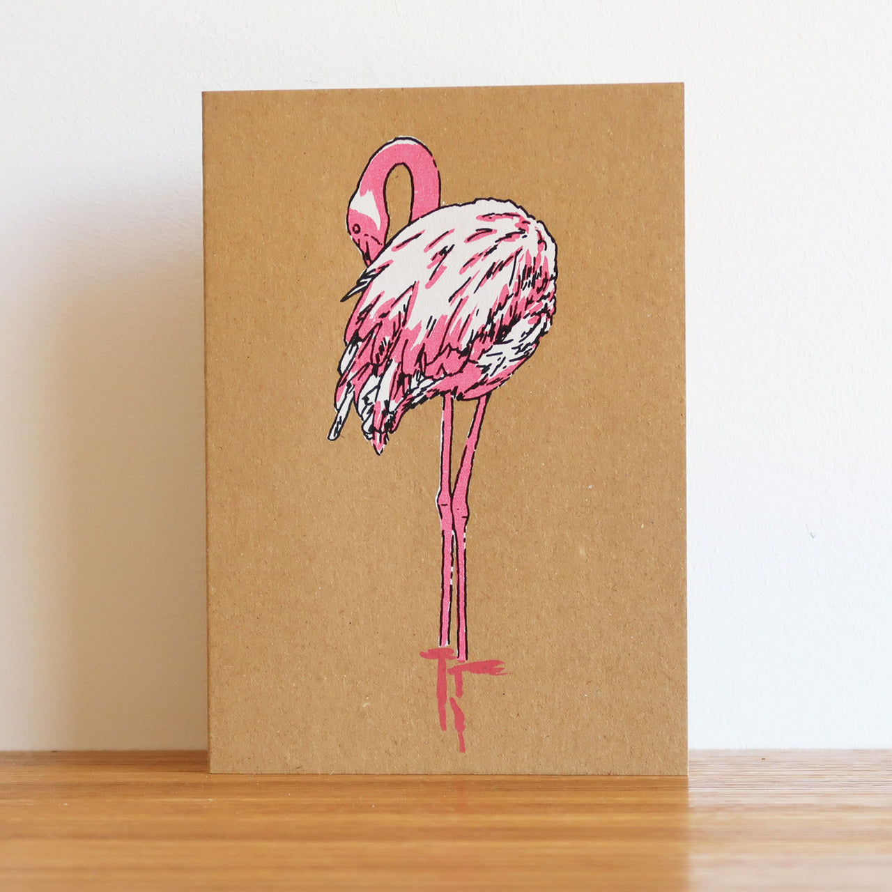 Flamingo Kraft Card