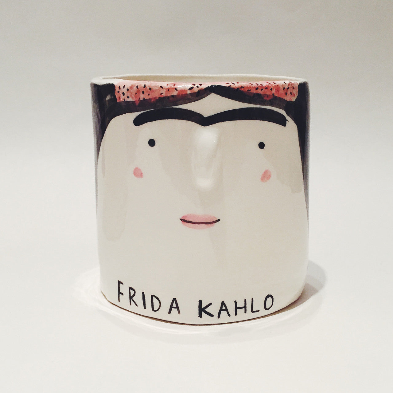Frida Kahlo pot by Alex Sickling