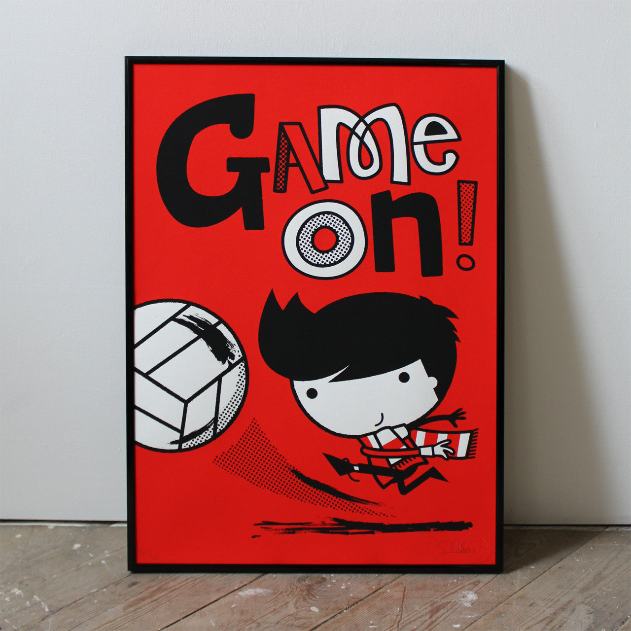 Game On print by Spencer Wilson