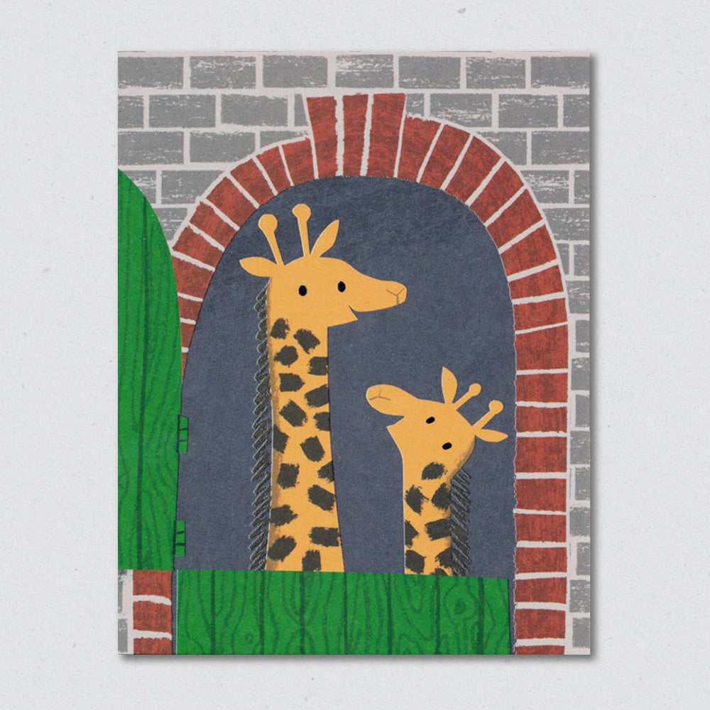 Giraffe House Card