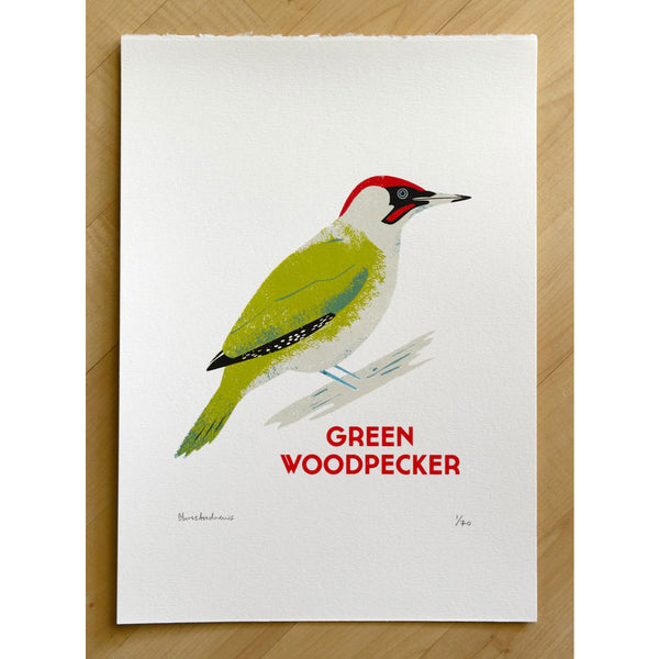 Green Woodpacker Print