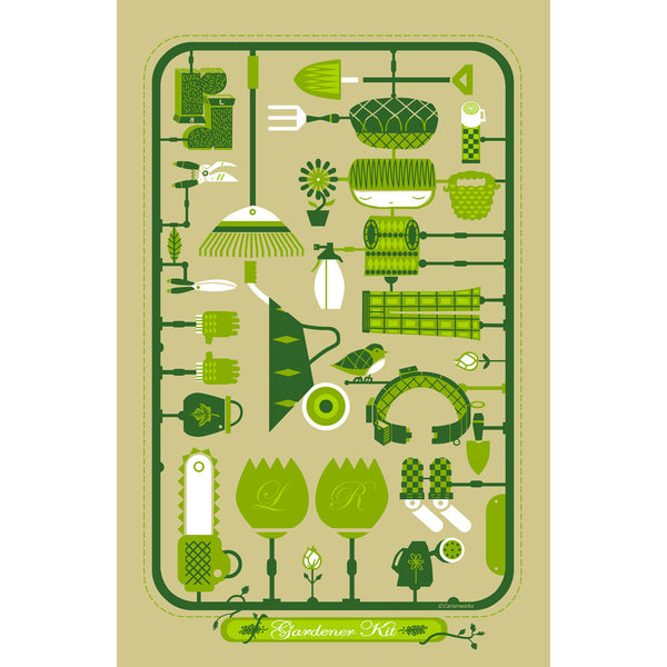 Green Fingers Kit print by Graham Carter