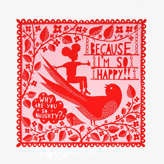 Why are you so naughty? print by Rob Ryan