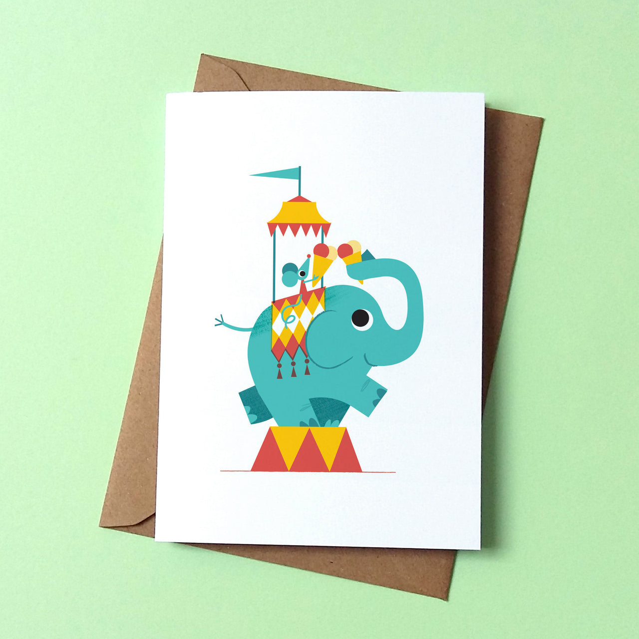 Elephant Ice Cream Card