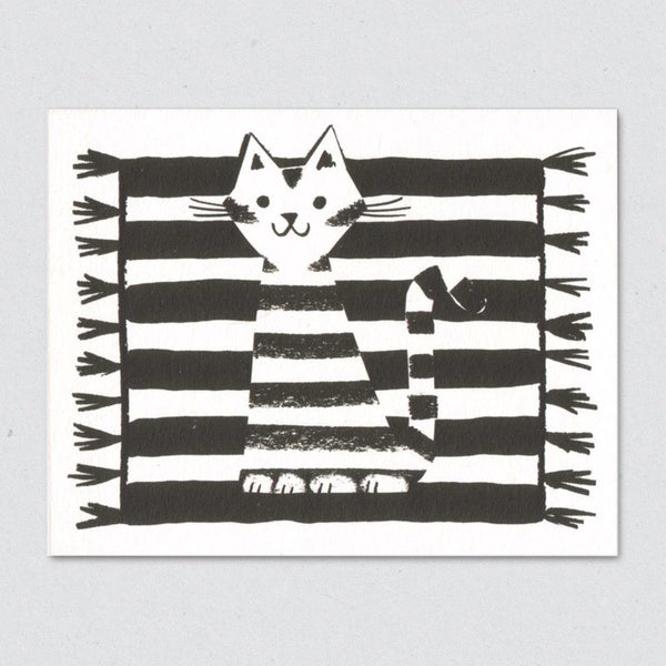Kilim Cat card by Lisa Jones Studio