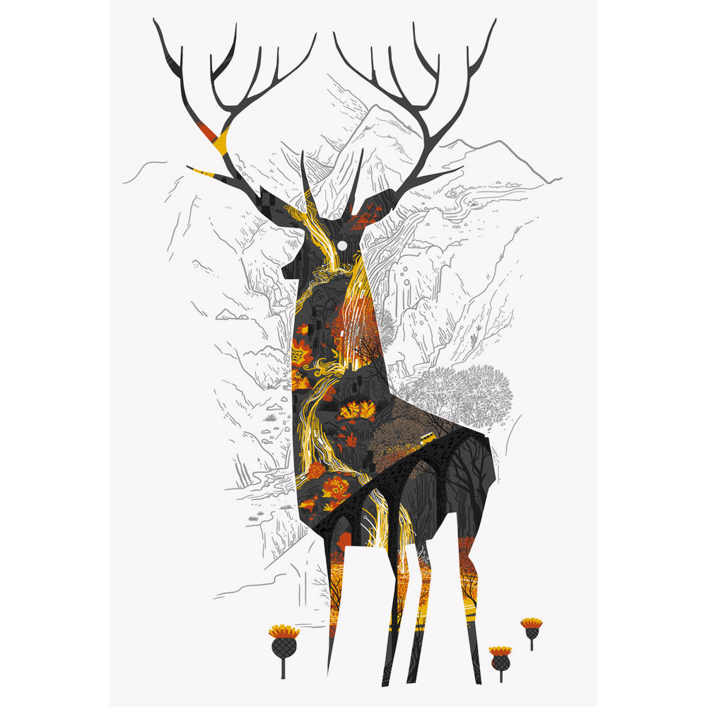 King of the Highlands print by Graham Carter