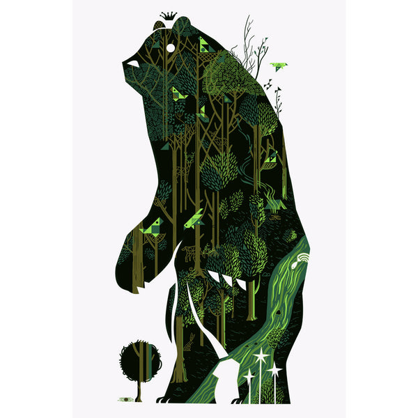 King of the Woods print by Graham Carter
