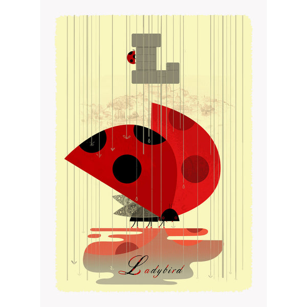Ladybird print by Graham Carter