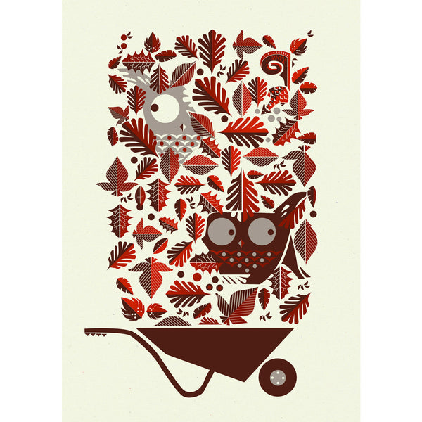 Leaf Peepers Red print by Graham Carter