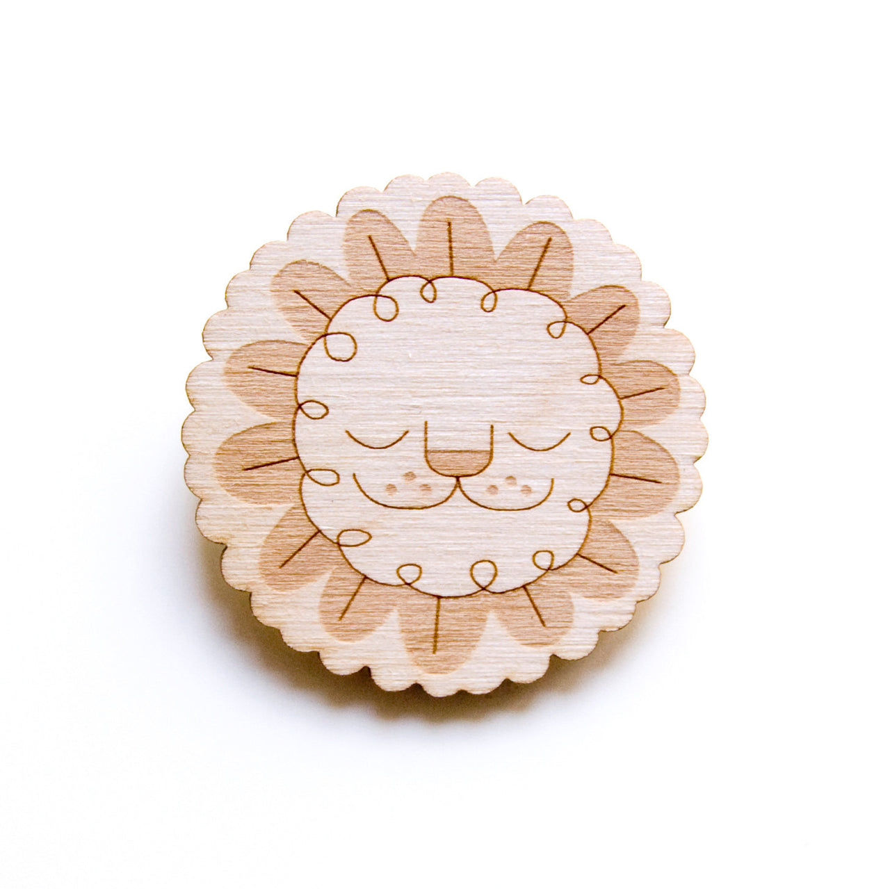 Leaf Lion Pin