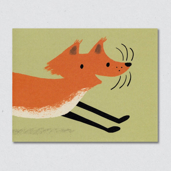 Frolicking Fox Card