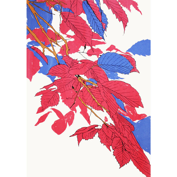 Leaves Pink/Blue/Gold Print