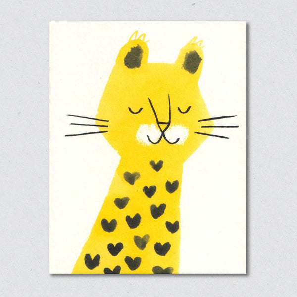 Leopard card by Lisa Jones Studio