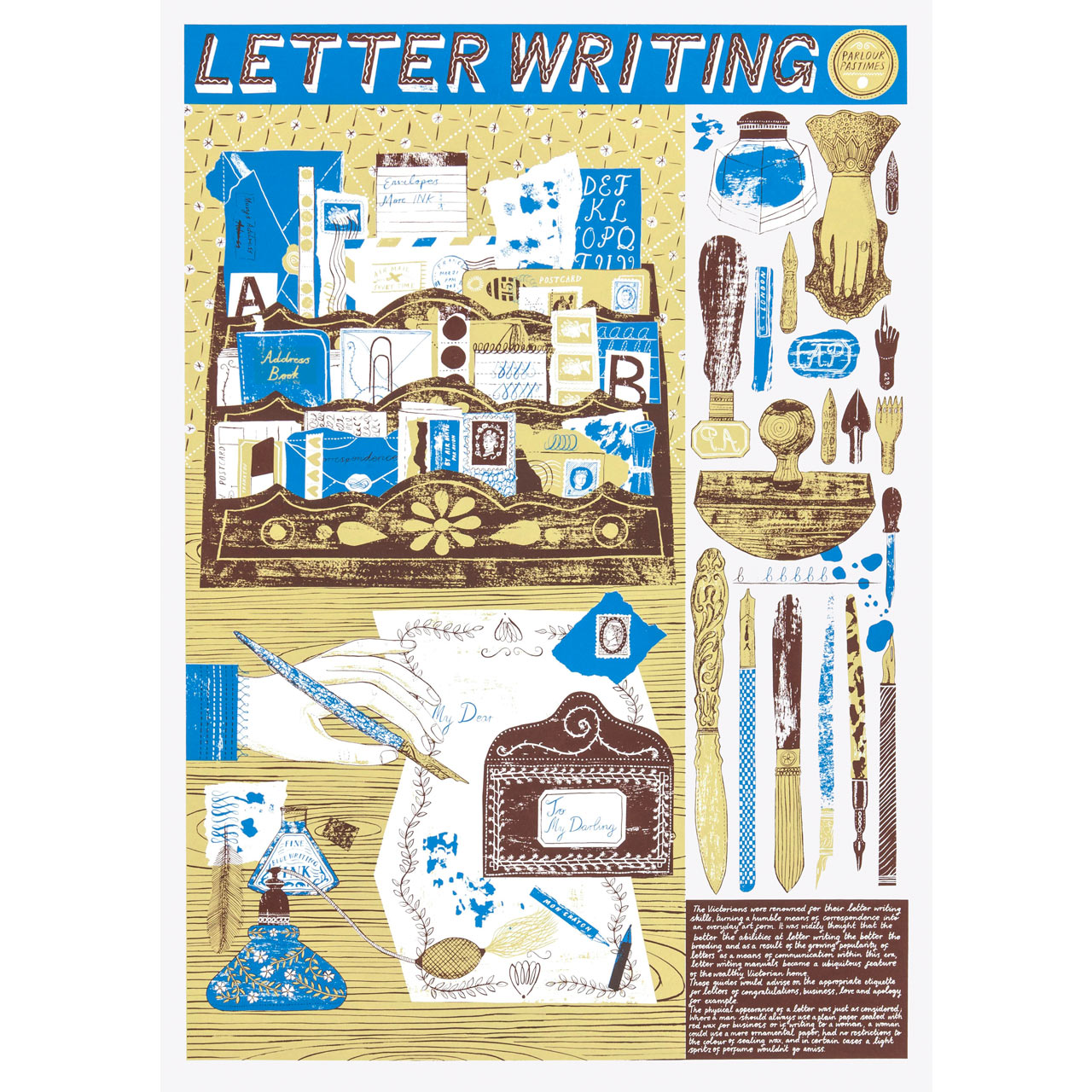 Letter Writing Print