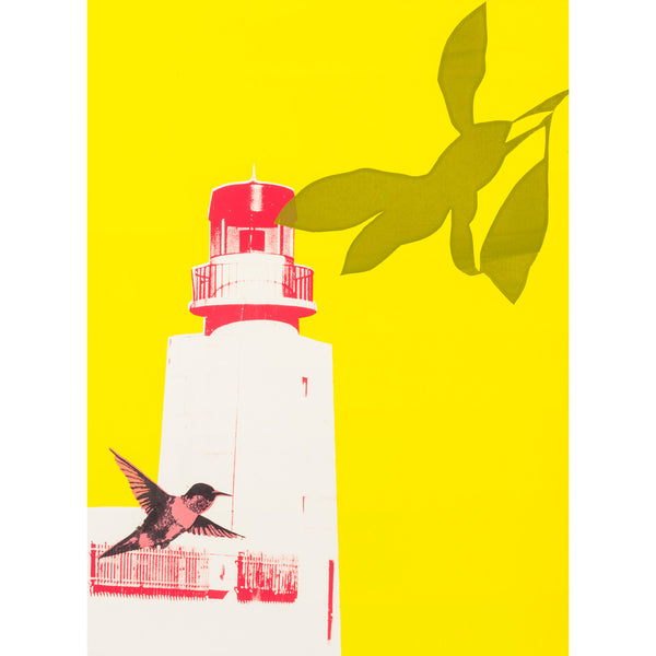 Lighthouse in Sagres print by Anna Marrow