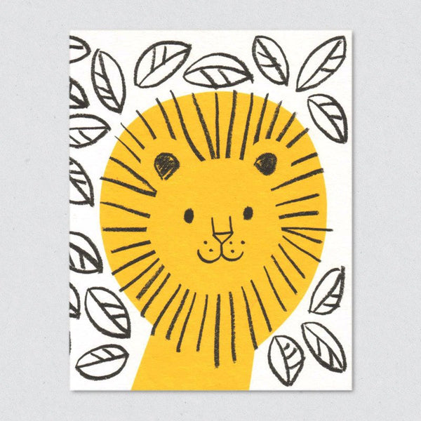 Jungle Lion Card
