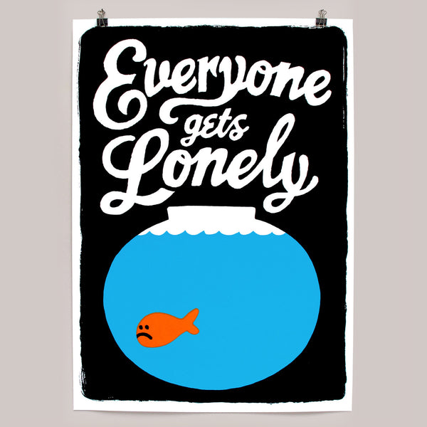 Lonely print by Andy Smith