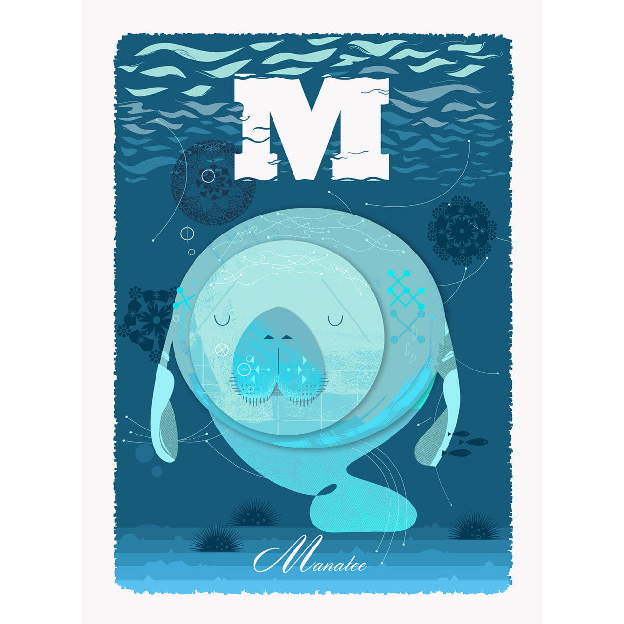 Manatee print by Graham Carter