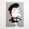 Mime print by Spencer Wilson