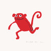 Monkey Run Print Red
