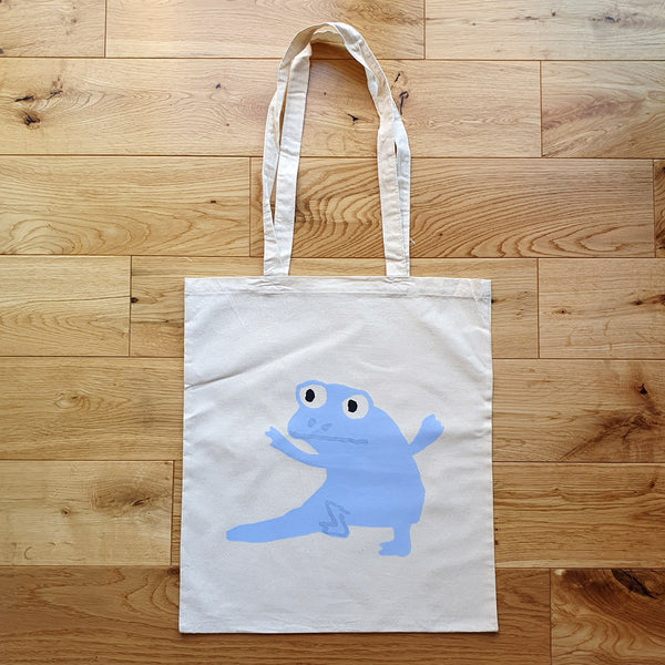 Newt Pale Blue 1 Natural Tote