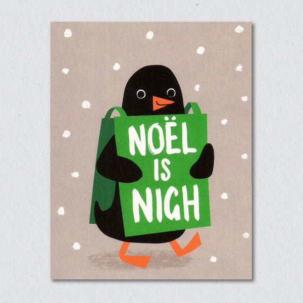 Penguin Prophecy Christmas Card