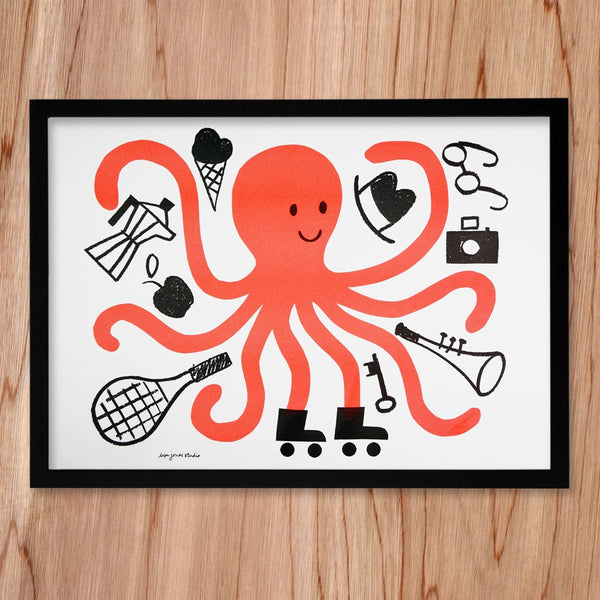Octopus print by Lisa Jones Studio