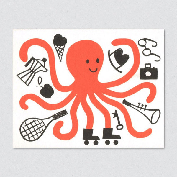 Octopus card by Lisa Jones Studio
