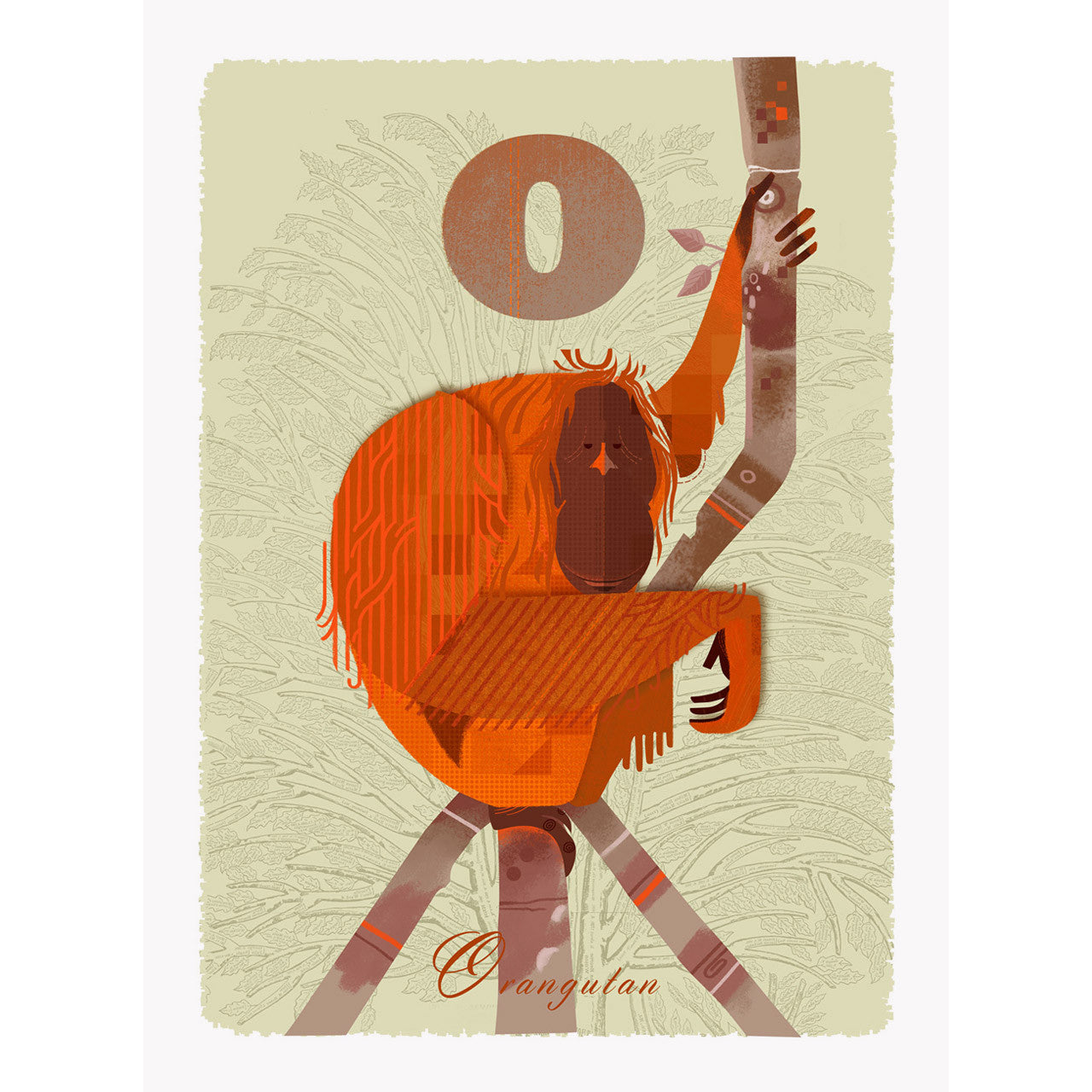 Orangutan print by Graham Carter