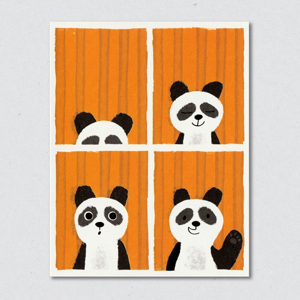 Panda Passport greeting card by Lisa Jones Studio