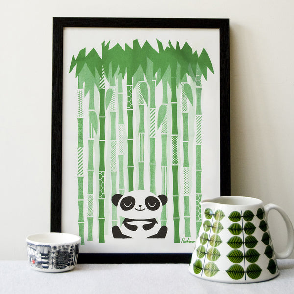 Happy Panda Big Print