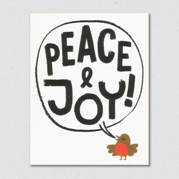 Peace & Joy card by Lisa Jones Studio